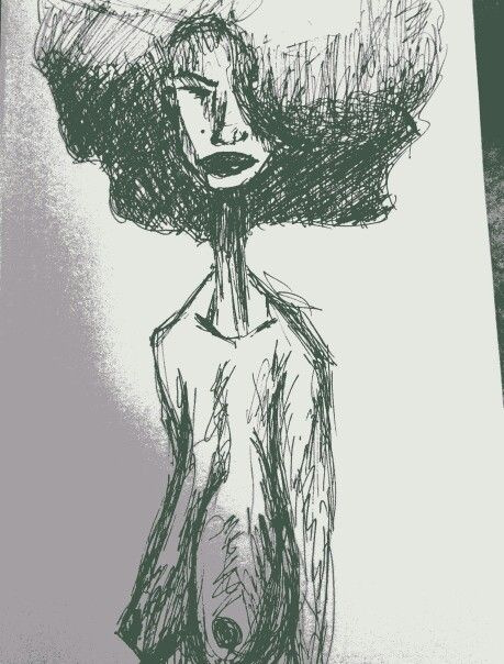 afro inspired by wasia ward artbywasia.com
