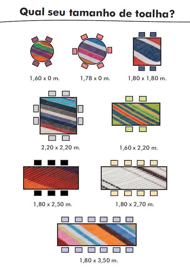 Qual o tamanho certo da sua toalha para mesa de jantar?