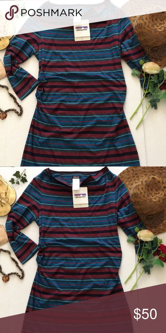 ❤Patagonia Dress❤ ❤New with tags attached Patagonia Dress in size Large❤is cinched on the sides❤3/4 sleeves❤Please see all photos❤ Patagonia Dresses
