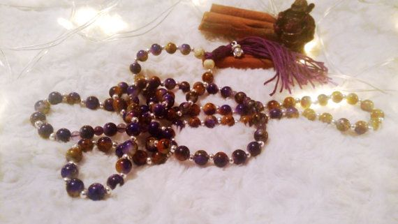 Purple Japa Mala 108 by CinnamonJane on Etsy