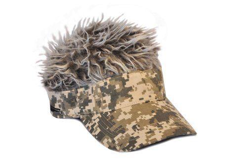 Flair Hair Camo Visor Gray Hair hairhat.ca