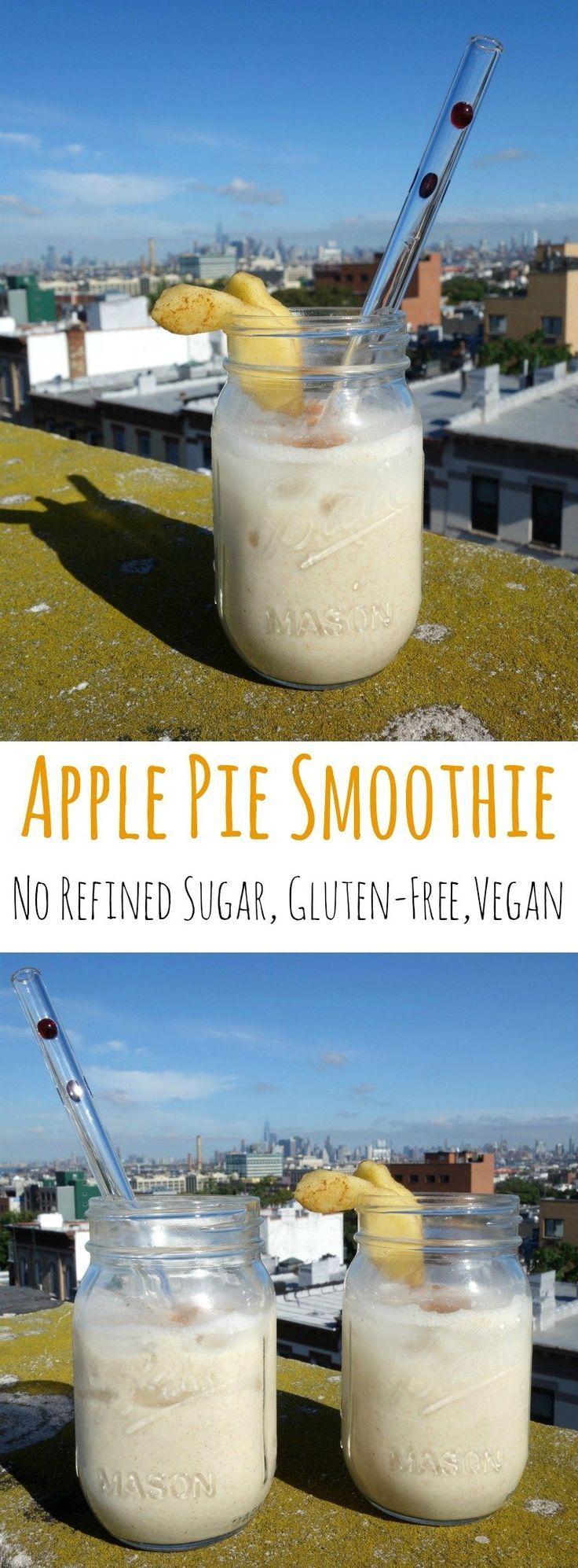 Apple Cinnamon Smoothie aka Healthy Apple Pie Smoothie - no refined sugar, gluten-free, vegan | curlsnchard.com