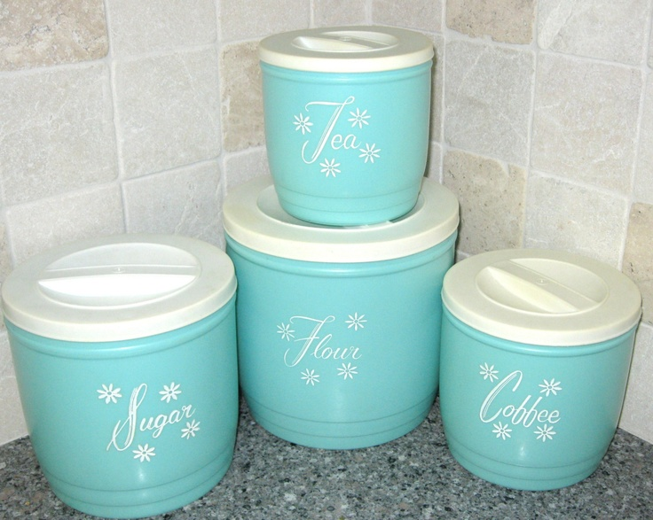 235 best CANISTERS images on Pinterest | Vintage canisters ...