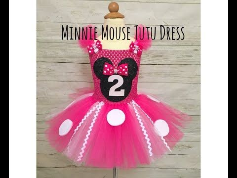 fae9c24b1 Minnie Mouse Birthday Tutu Dress | DIY tutorial | How to Make a Tutu -  YouTube