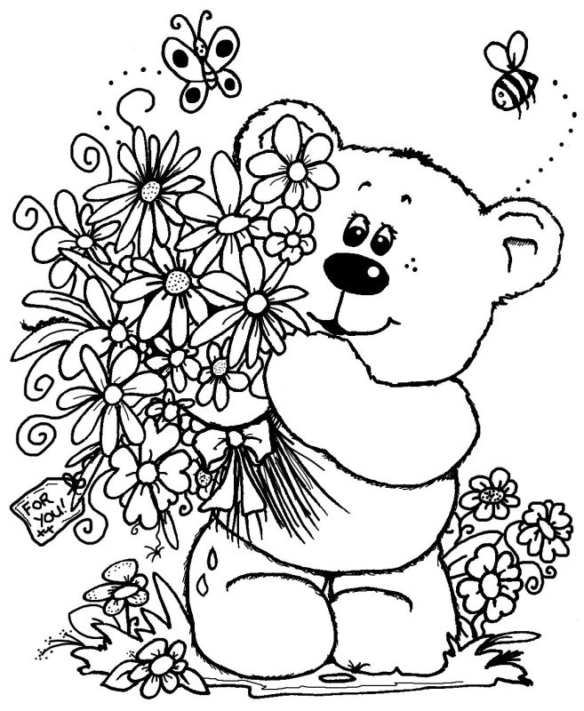 78 best Coloring pages Bears images on Pinterest Coloring pages - fresh www happy birthday coloring pages com