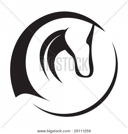 dibujo silueta del perfil cabeza caballo - Buscar con Google