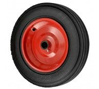455mm  Heavy Duty Solid Rubber Wheel on a Metal Centre with bearings