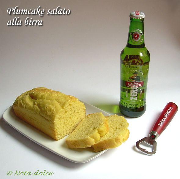 Plumcake salato alla birra moretti zero, ricetta senza burro