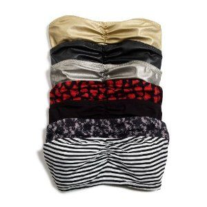 DIY: Bandeau bras. They say these can double as an undershirt for tops that show too much cleavage for comfort. They are also more comfortable than tanks or bras during hot months...