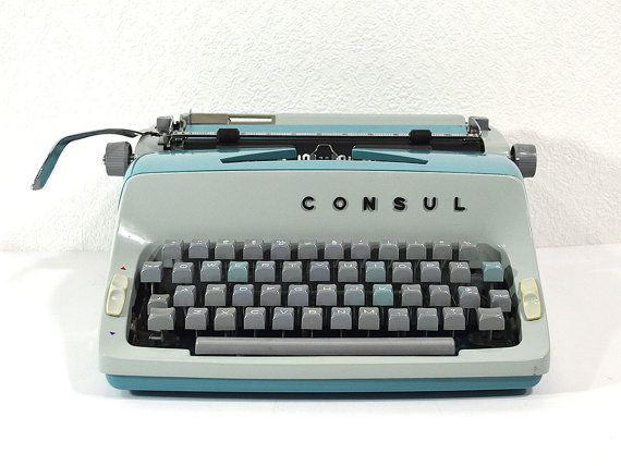 Working Rare Typewriter Refurbished Consul Czech by ReCreative85