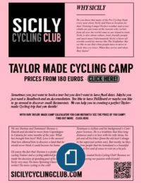 Taylor Made Cycling Camp
