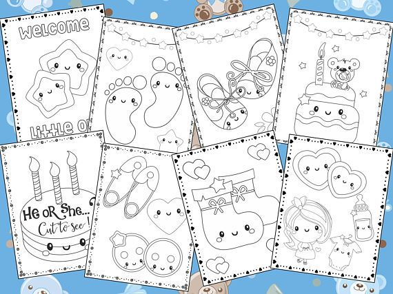 Baby Shower Coloring Pages The Crayon Crowd Coloring Book Sheets