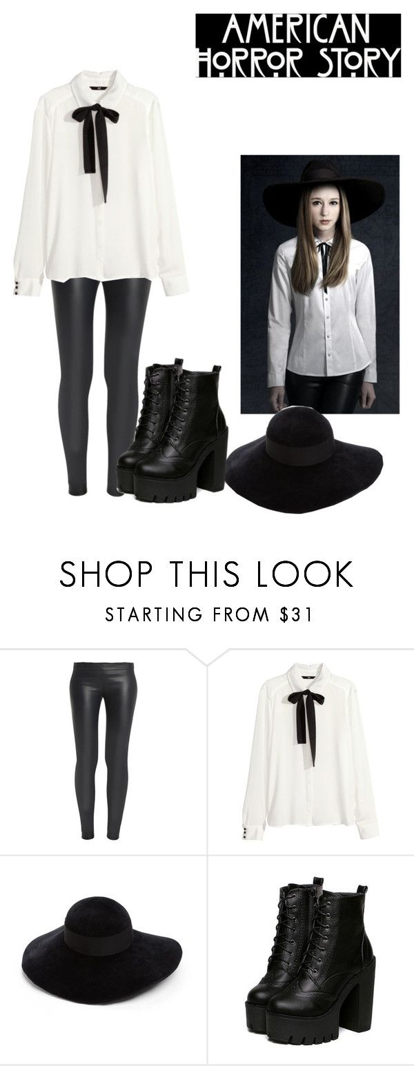"""Zoe Benson American Horror Story Coven"" by seetherfan17 ❤ liked on Polyvore featuring The Row, H&M, Coven and Eugenia Kim"