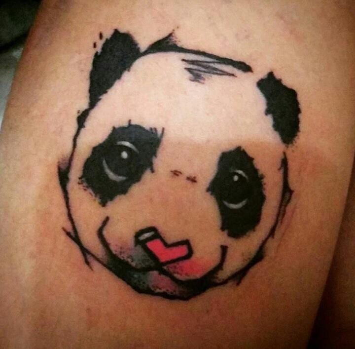 Oso panda tattoo, tatuaje oso panda