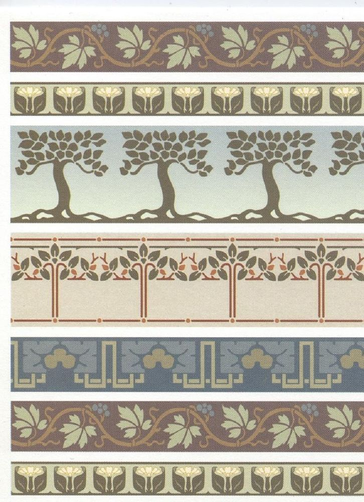 Arts & Crafts Borders for Dollhouse Miniature Wallpaper