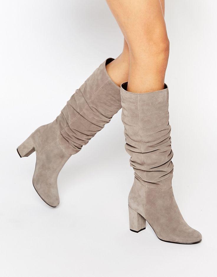 Image 1 of Oasis Slouch Block Heel Boots