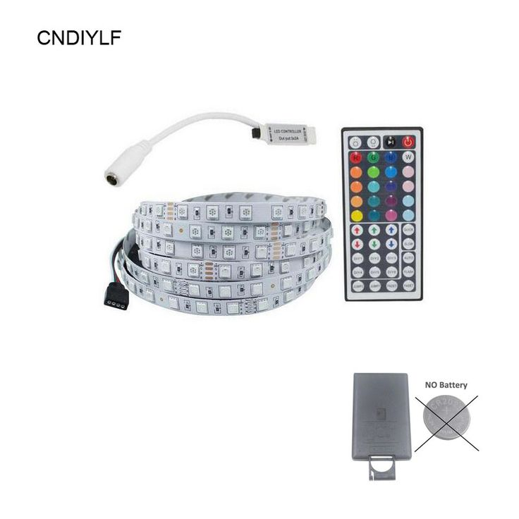 5050 SMD LED Strip 24V RGB No-Waterproof With 44 Keys (No Battery) Controller Free Shipping Via Regisitered Air Mail  #Affiliate