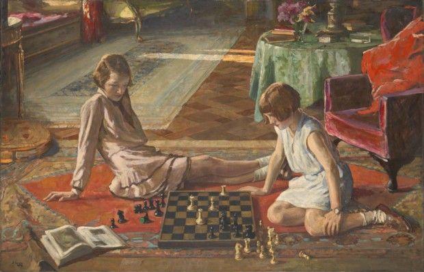 Sir John Lavery , The Chess Players, 1929, Tate