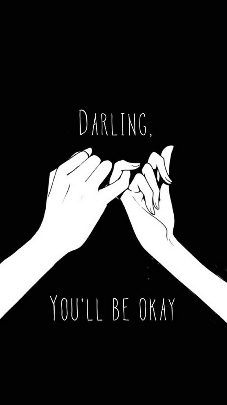 Darling You'll Be Okay Pinkie Promise #iPhone #6 #wallpaper