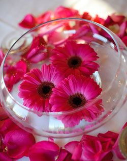 Floating Gerbera Daisy centerpiece