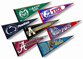 College Pennants at College Flags and Banners Co. your College Pennants source