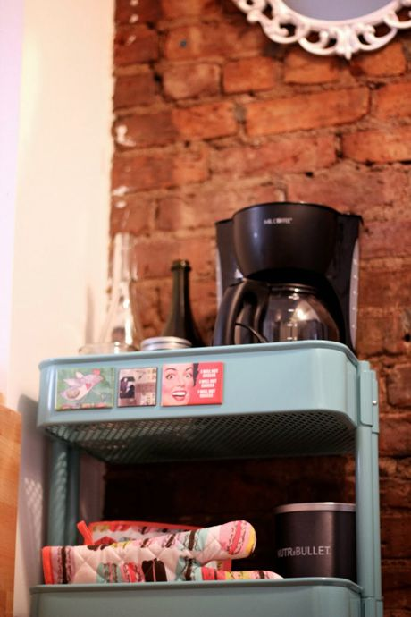 Studioonsullivan Coffee Cart Small Space Storage Solution