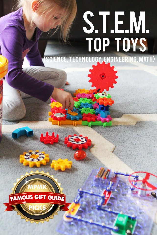 Best toys for building STEM (science, technology, engineering & math) skills - love the range of ages covered here. This is just one of 10 gift guides and I tell all my friends about them - super detailed and suggested ages too!