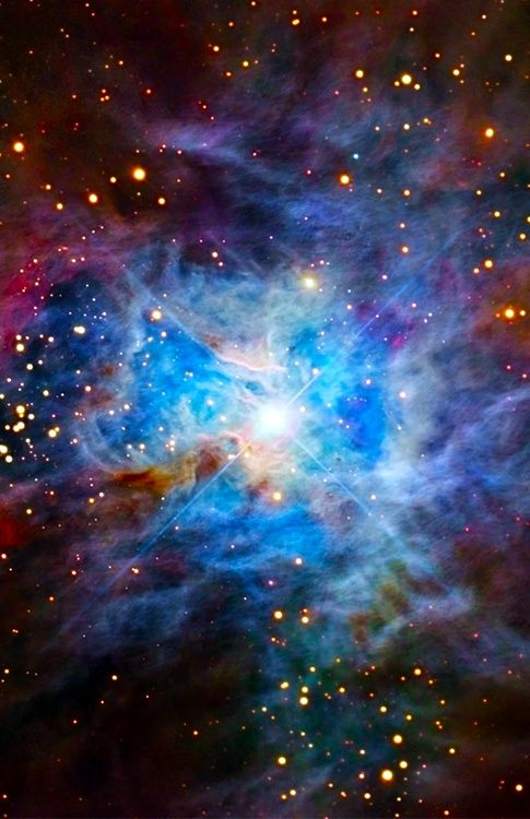 Iris Nebula.  Isaiah 40:26 - Lift up your eyes on high and see: who created these? He who brings out their host by number, calling them all by name, by the greatness of his might, and because he is strong in power not one is missing.