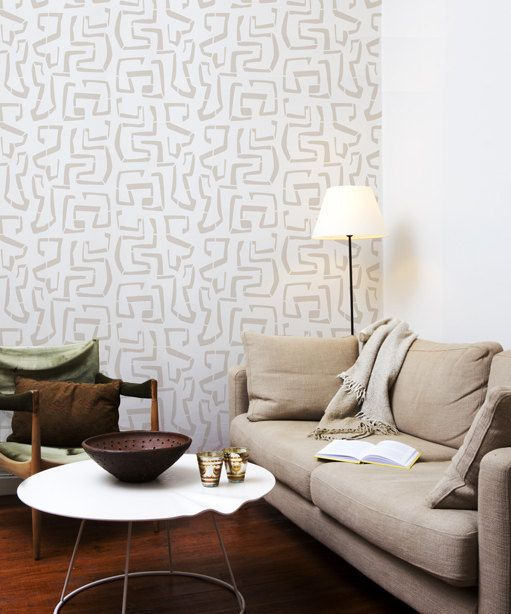 Tribal Vibe Scandinavian Wall Stencil For DIY Project, Ethnic, Wallpaper  Look And Easy Home Part 91
