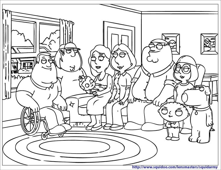 Family Guy Coloring Pages Family Guy Colouring Pages With Family