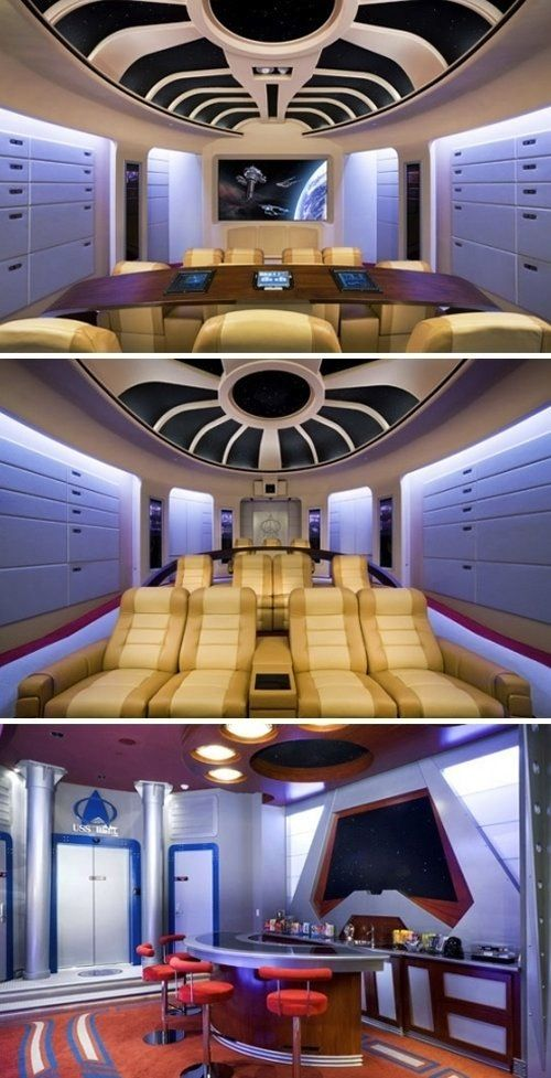 This Star Trek Home Theater is phenomenal (or as I like to call it, Nerdvana).