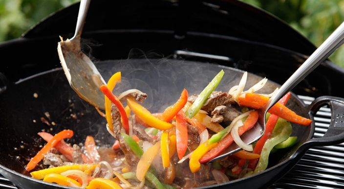 Five-Minute Pepper Steak Stir-Fry Recipe from Weber's New Real Grilling™ by Jamie Purviance