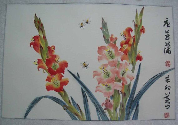 Original Chinese painting-Flower and by misscamellia on Etsy