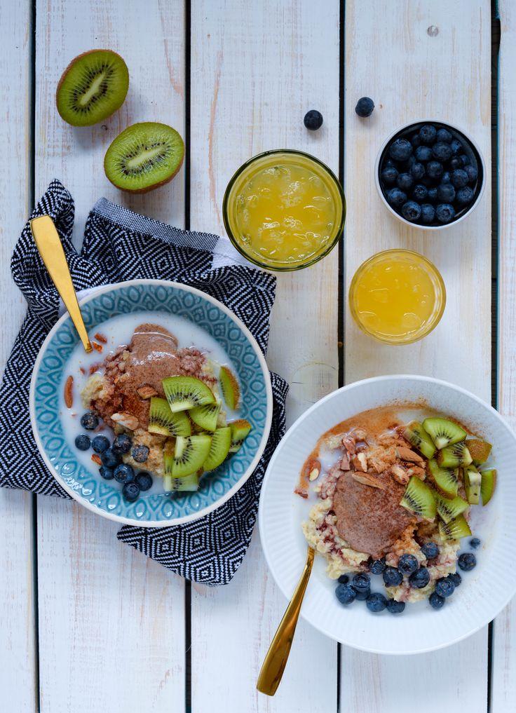 Quinoagrød med kiwi og nøddesmør   Vanlose Blues