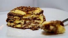 для коржей на одно пирожное:  1 белок яйца  1 ч.л.яблочного пюре  1 ч.л. обычной пшеничной клетчатки  1ч.л.Кэроба Крем: Сок 1/2 апельсинки (40мл)  1 желток  1/2 ч.л.Стевии  1/2 ч.л. Кукурузного крахмала