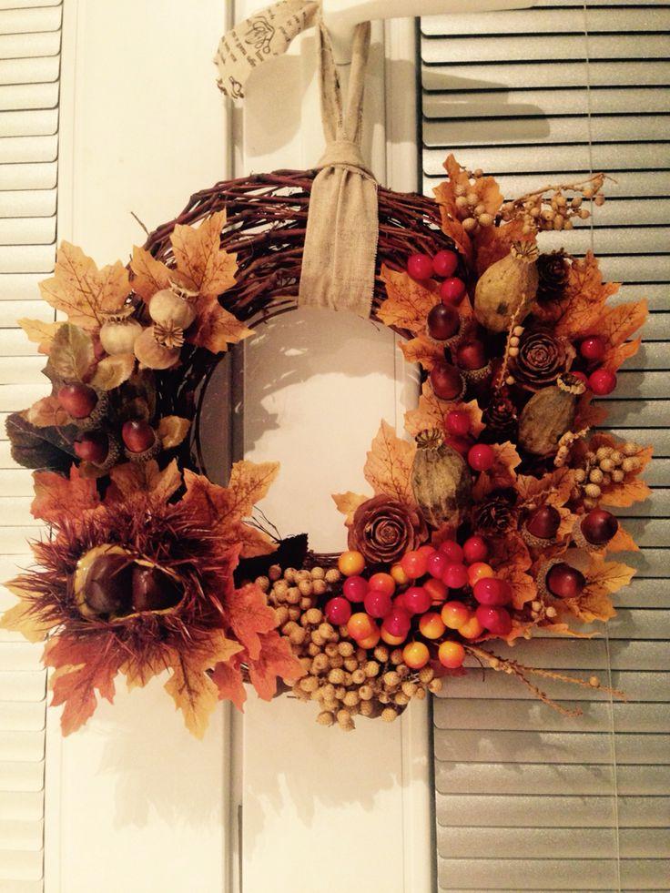 Jesenný venček na dvere