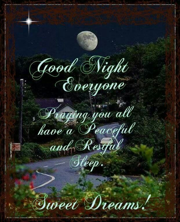 Sending warm fuzzies and sweet dreams out to all my  friends! Good Night all! Many Blessings, Cherokee Billie