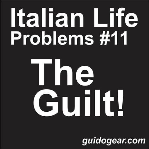 Yes...... The dreaded GUILT!!!!
