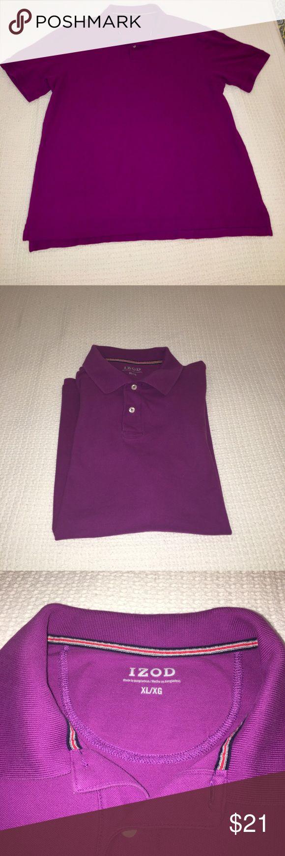 Men's IZOD polo shirt.  XL Great color - kind of purple/wine. Izod Shirts Polos