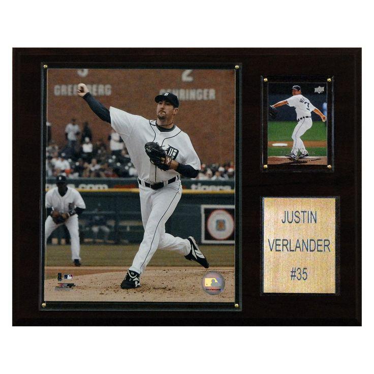 MLB 12 x 15 in. Justin Verlander Detroit Tigers Player Plaque - 1215VERLAND