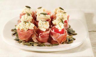 Gevulde cherrytomaatjes met Seranno ham