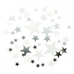 bake&more gümüş yıldız konfetiler, doğum günü konfetileri, doğum günü süsleri, doğum günü parti malzemeleri