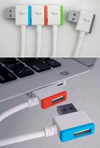 Oh God! Je dois payer une biere au génie qui vient de régler tous mes problèmes !! Infinite USB connection!  See more: http://www.interestingenginering.com