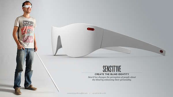 Sens'it'ive Glasses- Those who are visually impaired must rely more heavily on their other senses to perceive the world around them. These Sens'it'ive Glasses provide another faculty for interpretation in place of the user's eyes.