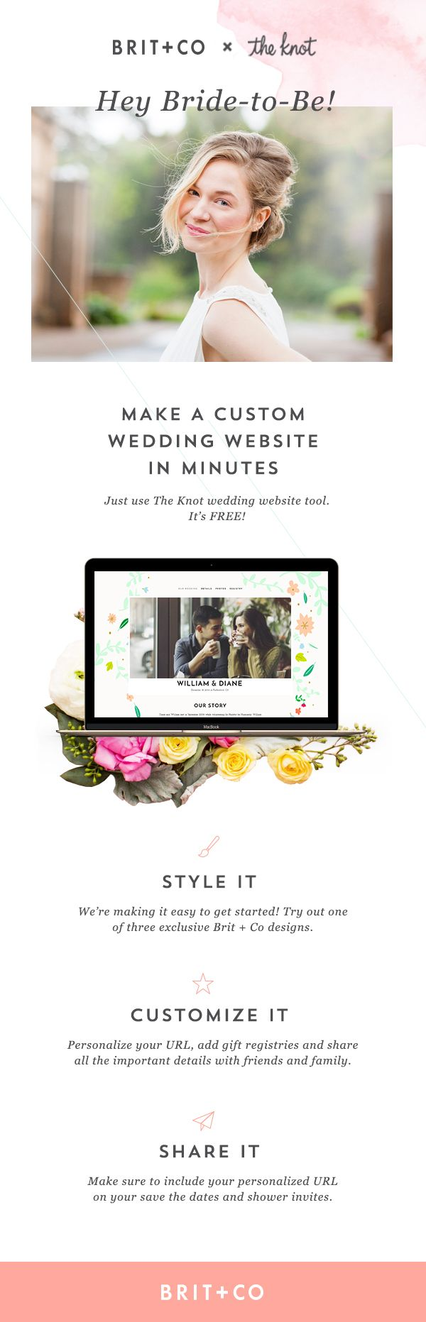 your dream wedding website is 10 minutes away the knot