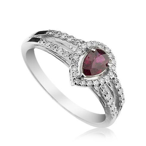Coriolan - Inel cu rubin si diamante C505