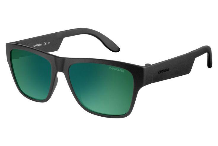 Carrera - 5002/ST Matte Black Sunglasses, Green Lenses