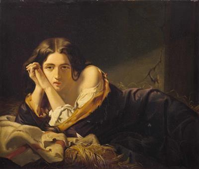 Francesco Hayez - Giovane catturato sulla paglia