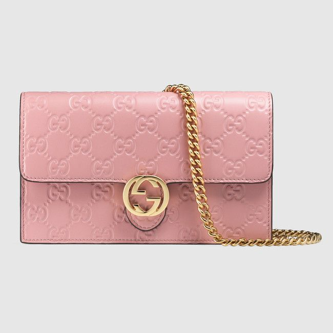 Gucci Icon leather GG chain wallet