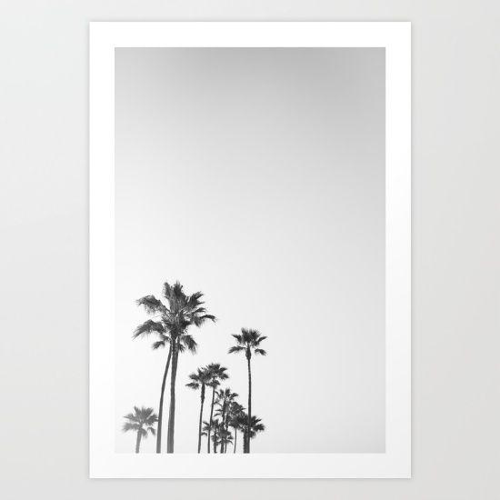 Black and White California Palms - $25